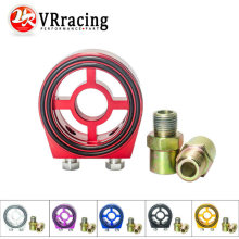 VR RACING - Racing M20X1.5 3/4-16 1/8 NPT Aluminum Oil Pressure Gauge Oil Filter Sandwich Adapter VR6722