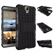 For HTC One E9 Plus E9+ Case 5.5inch High Quality Hybrid Kickstand Rugged Rubber Armor Hard PC+TPU Stand Function Cover Cases(China)