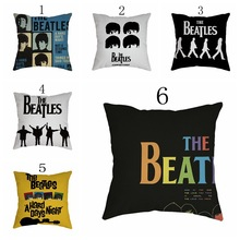 45x45cm/17.7x17.7'' HOT ! Fathion Classic Record Album Modern Style Cotton Sofa Car Seat Pillowcase Cushion Cover Home Decor(China)