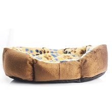Warm Soft Footprint Pattern Dog Cat Puppy Kennel Bed Sofa Mat House Cage Cushion