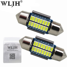 WLJH 2x Canbus Led Festoon 31mm 36mm 39mm 42mm SV8,5 C10W C5W Led 3014 SMD 12V Lamp Lighting Car Dome Bulb License Plate Lights(China)