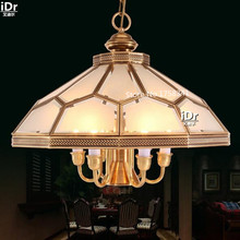 All copper solder Continental restaurant lights lights full Luxury lamp  study lamp bedroom lamp Chandeliers  Dia530xH420mm