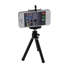 Mini Mobile Phone Desktop Holder Stand, Flexible Tripod Holder for Smartphone Camera Video Black(China)