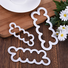 3Pcs/Set New Rose Flower Cake Mold Cookie Cutter Fondant Cake Decorating Tools Sugarcraft Baking Tool