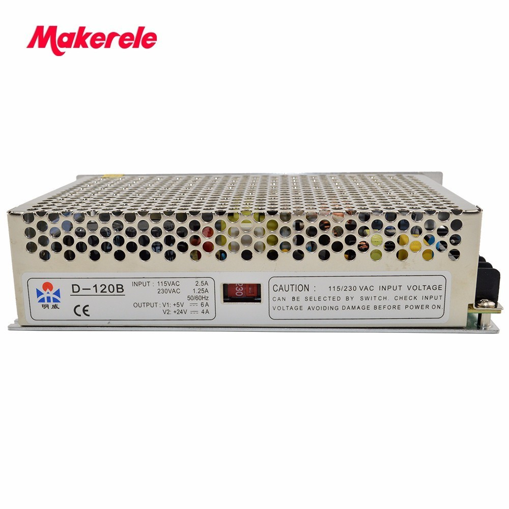 120w Dual Output Switching power supply Output Voltage 5V 24V AC-DC D-120B low price well quality <br>