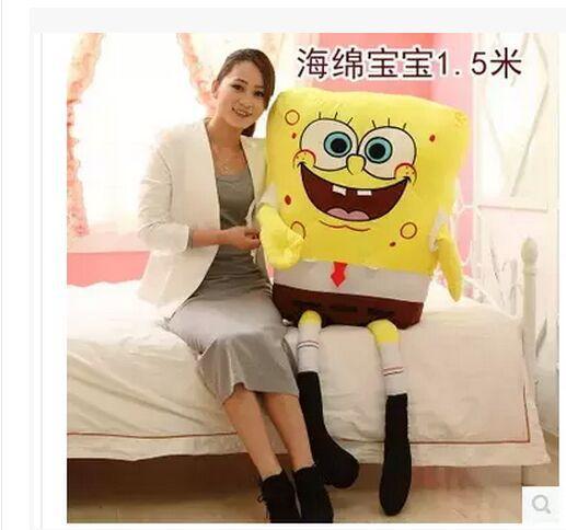 huge stuffed toy , 150cm Spongebob toy the cartoon Spongebob throw pillow toy s887<br><br>Aliexpress