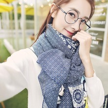 Charming Print Shawl Soft Winter Warm Scarf Wonderful Gift 6 Colors High Quality(China)