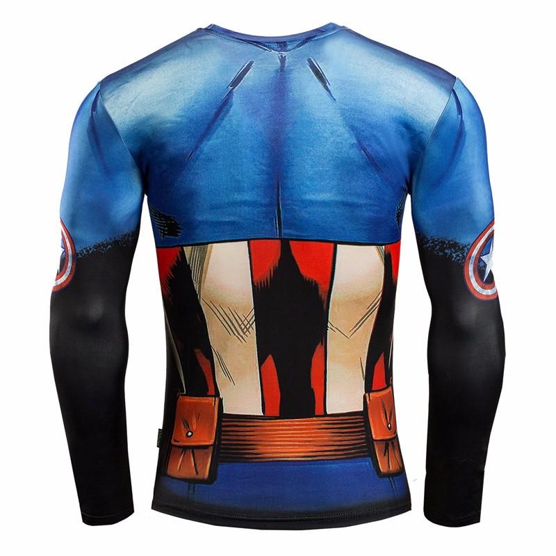 Marvel Gyms Clothing Fitness Compression Shirt Men Batman t-shirt men Long Sleeve 3D t shirt men Crossfit Tops tee shirt homme 13