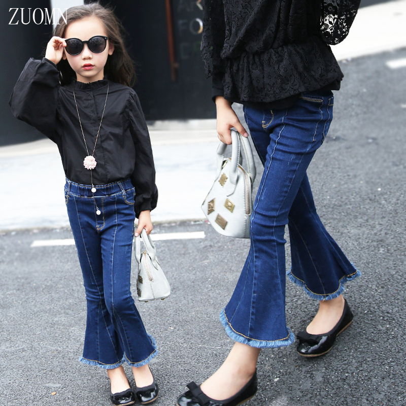 2017 Hot Sale Fashion Girls Jeans Flares Pants Children Flares Trousers Bell Bottomed Pant Kids Jean Clothes YL437<br><br>Aliexpress
