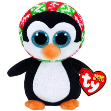 "Ty Beanie Boos 6"" 15cm Penelope Christmas Penguin Plush Stuffed Animal Collectible Doll Toy(China)"