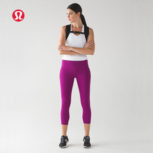 LULULEMON 2017 new arrival net yarn breathable Bright color yoga pants for women KZ0028