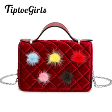 Bag New Female Ball Hit the Korean Version of the Small Hongfeng Shoulder Bag Ling Grid Messenger Small Square Package(China)