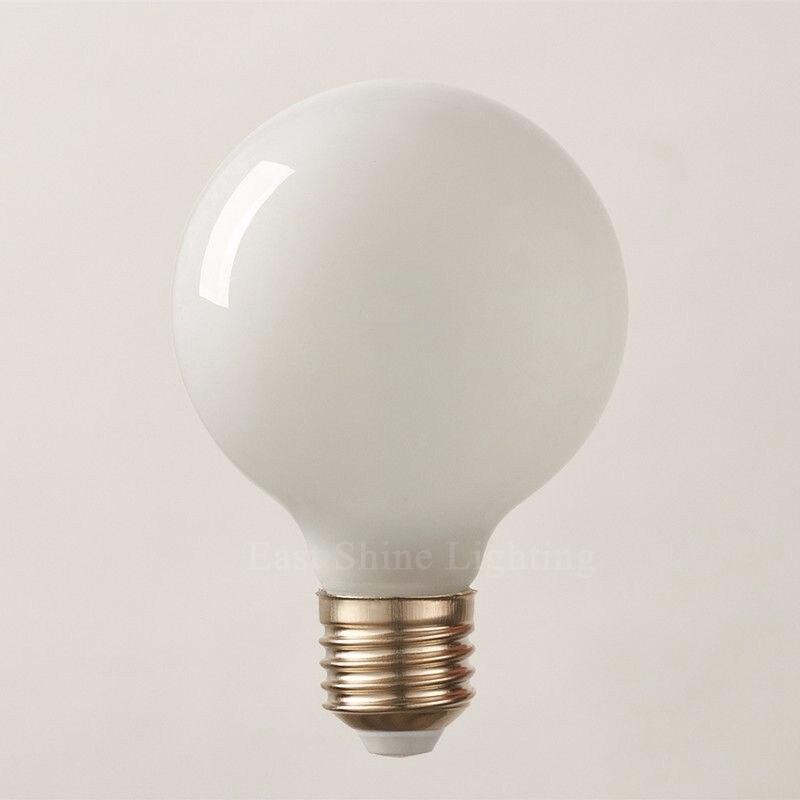 2016 Milk White LED Bulbs Light G80 G95 G125 E27 Retro For Filament Light Vintage Globe Lamp Glass  Antique Led Bulb For Home (3)_