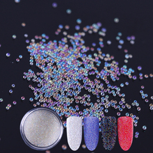 Clear White Caviar Beads 3D Nail Decoration Glitter Bead 10ml Manicure Tips Decor 1 Box(China)