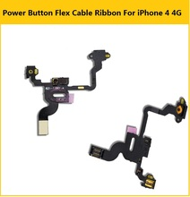 100% best quality Power Button Flex Cable Ribbon For iPhone 4 4G Proximity Light Sensor Power Switch On / Off Replacement part