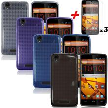 4X Phoen Case For ZTE MAX N9520 Boost Mobile Soft GEL TPU Case Cover Flexible+Screen Protectors