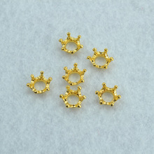 30pcs  Gold color crown Charms Necklace Pendant Bracelet Jewelry Making Handmade Crafts diy Supplies 12*6mm 1517