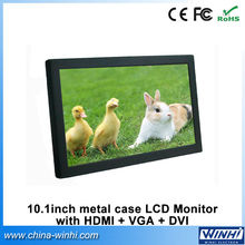 10 inch full hd professional small vga dvi hdmi open frame 12v battery computer LCD monitor
