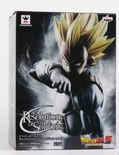Anime Banpresto Dragon Ball Z Vegeta Action Figure Resolution of Soldiers Vol.2 Vegeta Model Toy Figuras DBZ Super Saiyan Vegeta