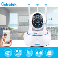 lintratek Mini CCTV WiFi Surveillance Camera IP 1080P Home Security Camera Wi-Fi Two Way Audio 3 Antennas Wireless Baby Monitor