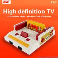 Coolboy RS-3 TV game player Video Game Console Red and white classic game + 2 Free wireless remote controls +built in 88 games