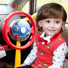 Creative Simulation Steering Wheel Electronic Backseat Driver Pretend Play Educational Toys for Children Kids with Light Music