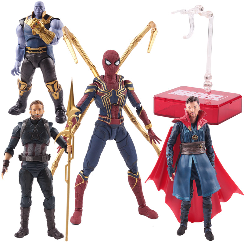 S.H.Figuarts Avengers 4 Captain America Figure SHF Movable Collection Toy Gift