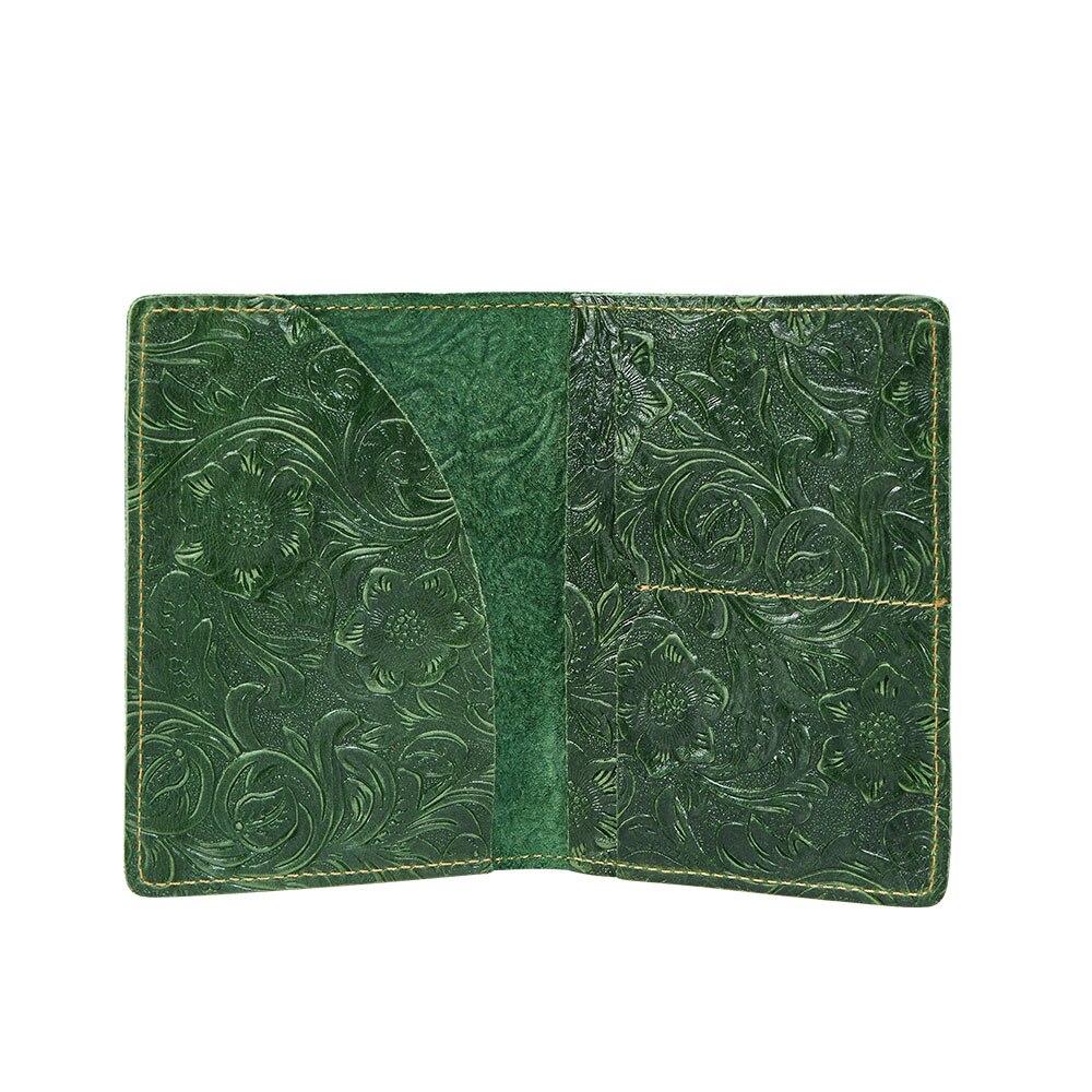 K018-vrouwen paspoorthoes portemonnee-groen-03 (9)