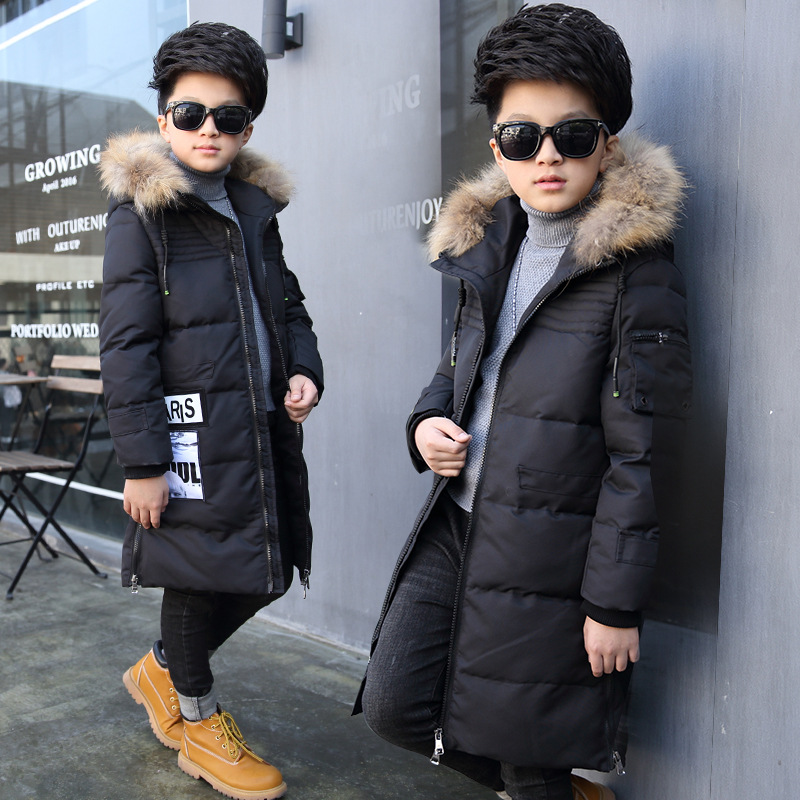 Childrens Outerwear Boy l Winter Warm Hooded Coat Children Cotton-Padded Clothes kid jackets 5-11 years<br>