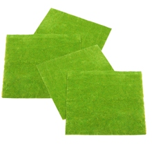 KiWarm 4 Pcs Lawn Green Scale Model Train Layout Grass Mat Moss or Home Wedding Decoration micro Garden DIY Accessory 0.25x0.25m