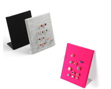 Free Shipping Velvet Ring Display Stand Ring Stud Holder Ring Show case Ring Display Board(China)