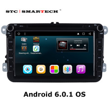 2 din Android 6.0.1 Car audio system head unit for VW passat b6 golf 5 polo jetta 8 inch Quad Core Car DVD player with CAN-BUS
