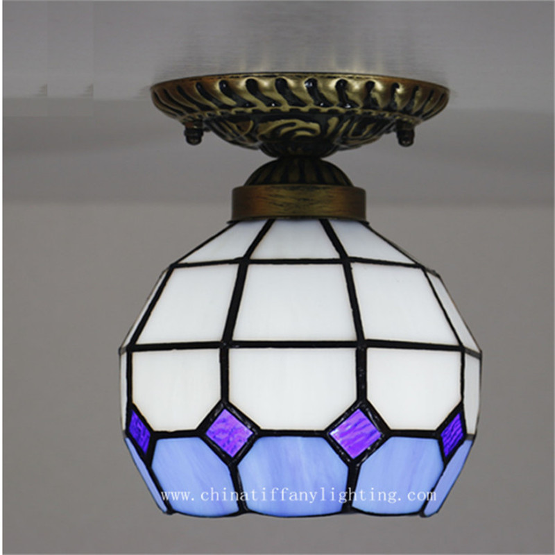 Tiffany ceiling lamp ,European style Baroque,Med ,Bohemia surface mounted tiffany light ,16CM aisle decoration TFC-001-16CM  <br>