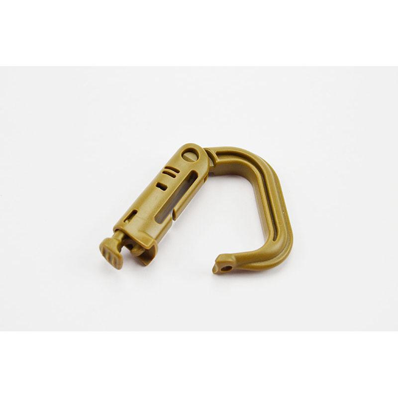 Plastic D Carabiner Open