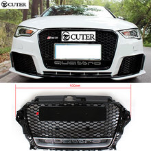 A3 RS3 black Auto Racing Grills Front Bumper mesh Grills For audi A3 RS3 2013-2015