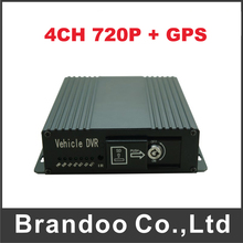 4CH 720P GPS SD CAR DVR works with normal AHD cctv camera