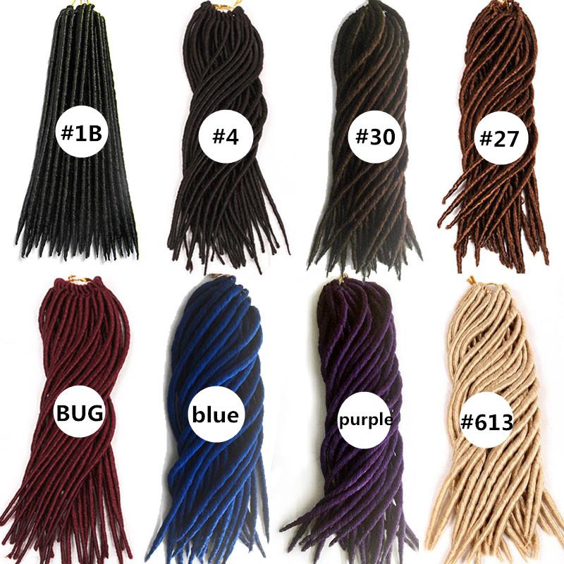 synthetic Braiding crochet hair dreadlocks Kanelalon Hair Extension  (24)