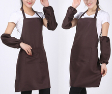 Hot sale Women Men Apron Korean Waiter Aprons With Pockets Restaurant Kitchen Cooking Shop Art Work Apron