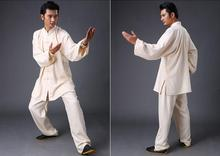 Tai Chi Linen Uniforms Wushu Kungfu Suits Tai Chi Clothes(8 colors, sold as  a set, Jacket+Pants)