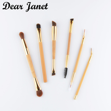 1pc Bamboo Make up brushes eye liner makeup brush liner blending contour eyebrow brush Professional High quality