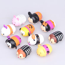 2017 New 10Pcs/lot 3.8CM Tsum Tsum Donald Mickey Winnie Duck Toys Cute Elf Doll Bathing Toy Juguetes For Chirldren Gift