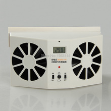 2015 newly hot selling Portable Solar Sun Power 2W Car Auto Air Vent Cool Fan Cooler Ventilation System Radiato with Display