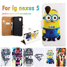 Superb Durable Sheath Flip Holster For LG Google Nexus 5 E980 D820 4.95 Inch  Case Anti-knock Painted Leather Hot Selling Cover