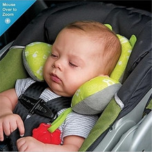 Children travel U Head Pillow Seat Supports Soft and Safe Car Headrest Cartoon Neck Pillow Seat Covers 0-1Year Baby