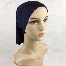 Muslim Cotton jersey cover Inner Hijab Cap Islamic Head Wear Hat Underscarf ,New style of tube cap  jd072