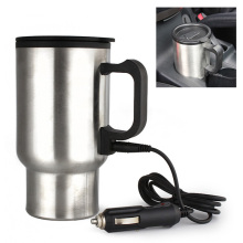 Car Style 450ml 12V Auto Car Heating Cup Stainless Steel Coffe Tea Water Heater Cigarette Lighter Adapter for Cars