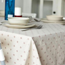 Lovely Table Accessaries Floral Dustproof Table Covers Lace Edge Country Style Linen Cotton Table Cloth