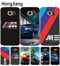 HongJiang luxury bmw M3 photo print cell phone case cover for Samsung Galaxy S7 edge PLUS S8 S6 S5 S4 S3 MINI