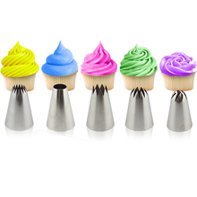 5pcs Large Pastry Tips Cake Decorating Tools Set Cream Nozzle Icing Piping Bakeware Sugarcraft(China)
