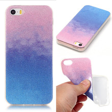 Glitter Powder Tpu Case 4.0For iPhone 5S Case For Apple iPhone 5 iPhone 5S SE 5SE Cell Phone Back Cover Case(China)
